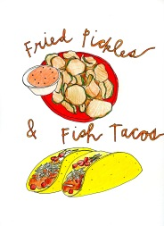 Fried Pickles and Fish Tacos, from Artists Book: What's In Florida