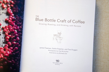 Title page from Blue Bottle Craft of Coffee, Published by Ten Speed Press