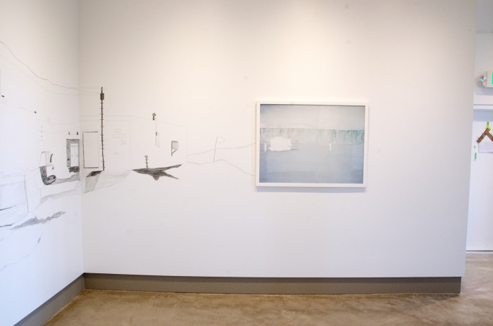 Installation view at Embark Gallery, 2015