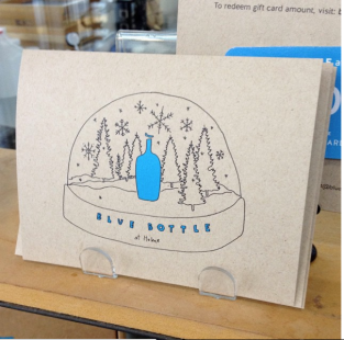 Holiday card for Blue Bottle Coffee