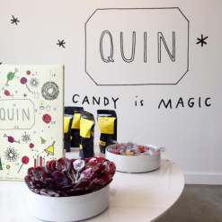 Mural illustrated logo in the newest QUIN location! photo from @quincandy
