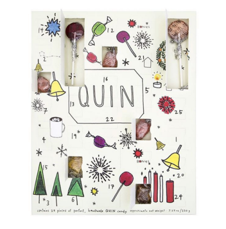 Candy Countdown Calendar! A full color illustrated advent calendar. photo from @quincandy