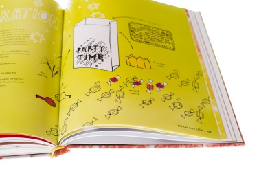 Party Time! Illustrations in Candy Is Magic by Jami Curl, Published by Ten Speed Press 2017. Photo by Maggie Kirkland